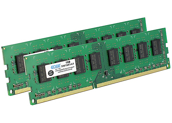 EDGE - DDR3 - 4 GB: 2 x 2 GB - DIMM 240-pin - unbuffered