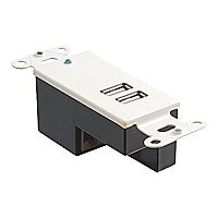 C2G 2-Port USB 1.1 Over Cat5 Superbooster Extender Wall Plate Receiver - US