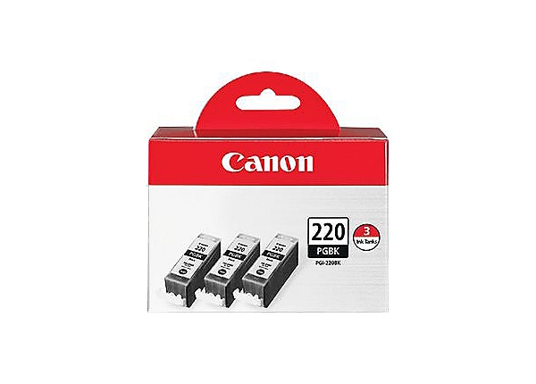 Canon PGI-220 3 Pack - 3-pack - pigmented black - original - ink tank