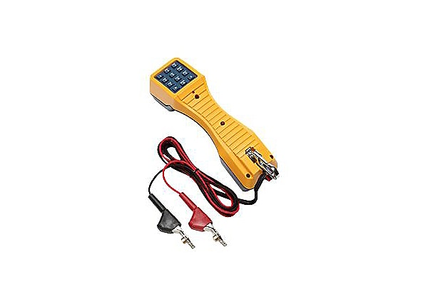 Fluke Networks TS19 Test Set with Angled-Bed-of-Nails Clips - telephone tes