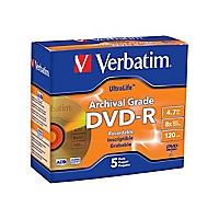 Verbatim UltraLife Gold Archival Grade - DVD-R x 5 - 4.7 GB - storage media