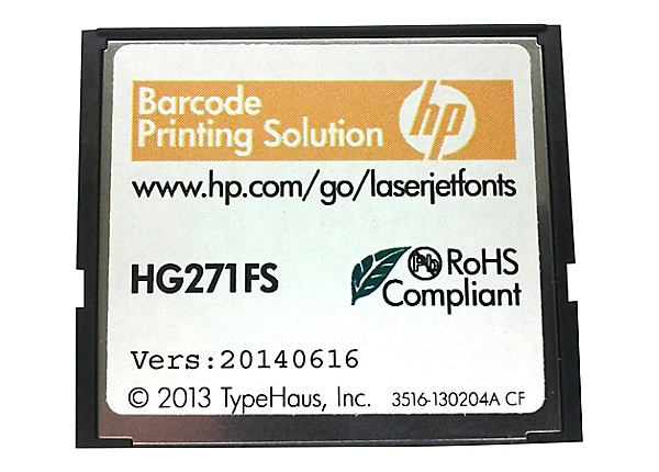 HP BarCode CF Printing Solution ROM
