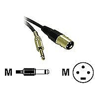 C2G Pro-Audio 3ft Pro-Audio XLR Male to 1/4in Male Cable - audio cable - 3