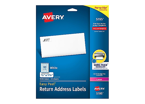 Avery - address labels - 1500 label(s)