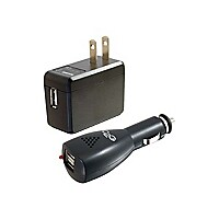 C2G USB Car Charger and Wall Charger Kit - AC Adapter and DC Adapter power