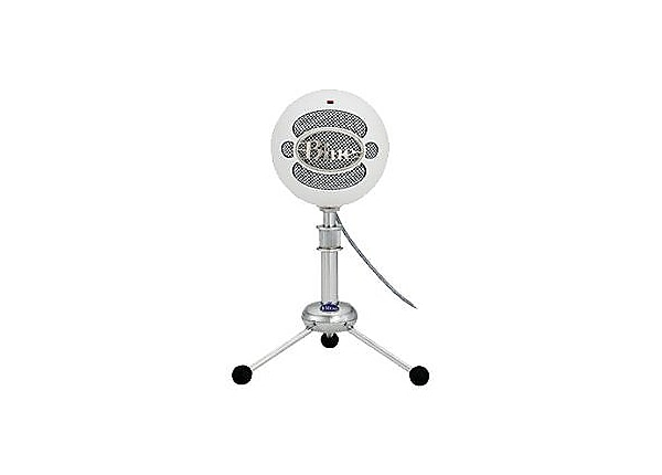 Blue Mic Snowball USB Mic w/Mini Tripod-White