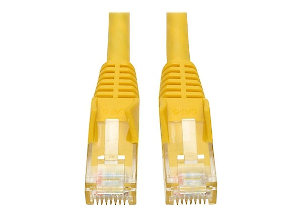 Tripp Lite Cat6 Gigabit Snagless Molded Patch Cable (RJ45 M/M) Yellow, 10'