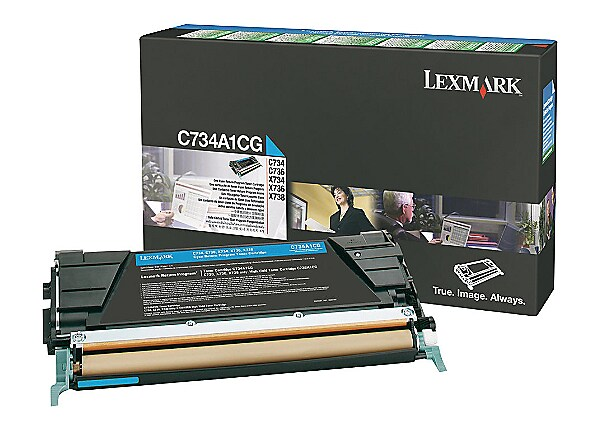 Lexmark - cyan - original - toner cartridge - LCCP, LRP