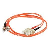 C2G 1m SC-ST 62.5/125 OM1 Duplex Multimode PVC Fiber Optic Cable - Orange -