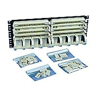 Panduit PAN-PUNCH 110 - cable management panel - 4U - 19""