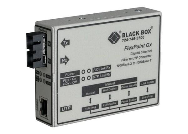 Black Box FlexPoint Modular Media Converter - fiber media converter - GigE