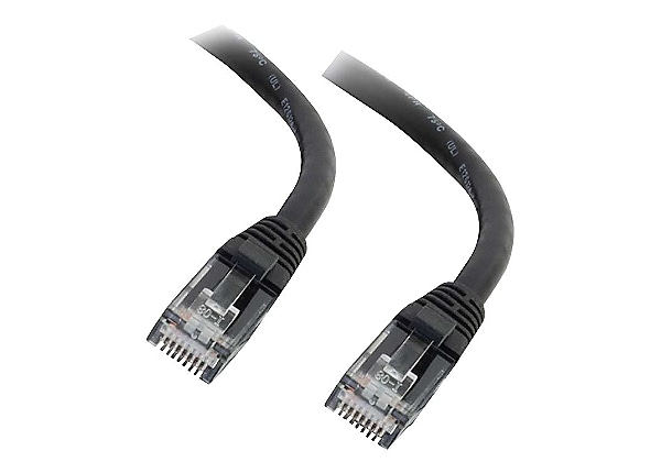 C2G 1ft Cat6 Ethernet Cable - Snaglass Unshielded (UTP) - Black - patch cab