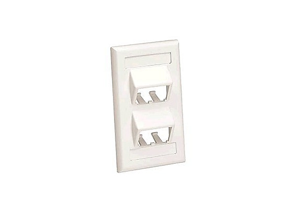 Panduit MINI-COM Classic Series Sloped Faceplates with Label and Label Cove
