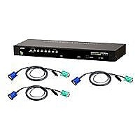 ATEN 8 Port PS2 USB KVM w/ 8 USB cables