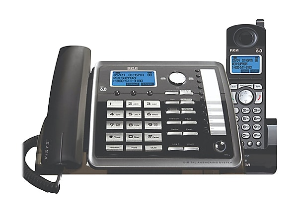 RCA ViSYS 25255RE2 - cordless phone - answering system with