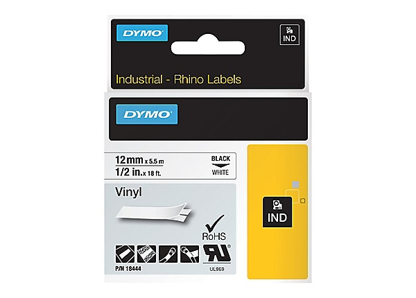 DYMO IND All-Purpose - label tape - 1 roll(s) - Roll (1.2 cm x 5 m)