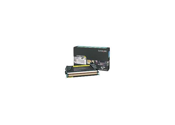 Lexmark - High Yield - yellow - original - toner cartridge - LCCP, LRP