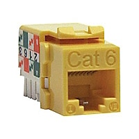 Tripp Lite Cat6 Cat5e 110 Style Punch down Keystone Jack RJ45 Yellow TAA