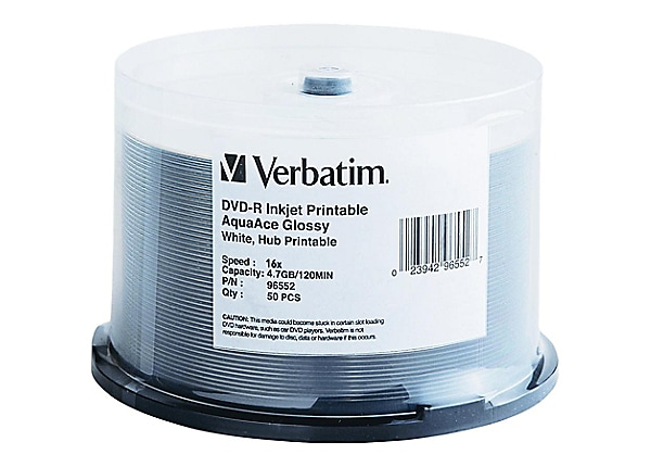 Verbatim AquaAce - DVD-R x 50 - 4.7 Go - support de stockage