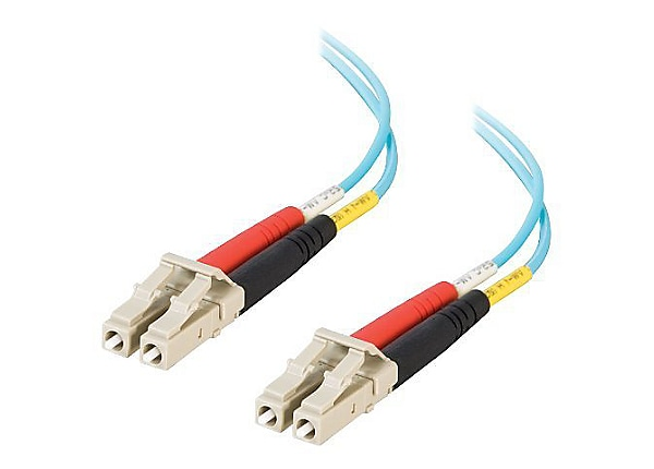 C2G 3m LC-LC 10Gb 50/125 OM3 Duplex Multimode Fiber Optic Cable - Low Smoke