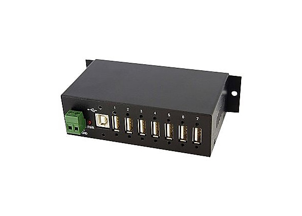 StarTech.com 7-Port Industrial USB 2.0 Hub with ESD, 350W Surge Protection
