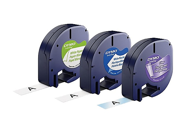 Dymo LetraTAG Multi-Pack - label tape kit - 3 roll(s) - Roll (0.47 in x 13.