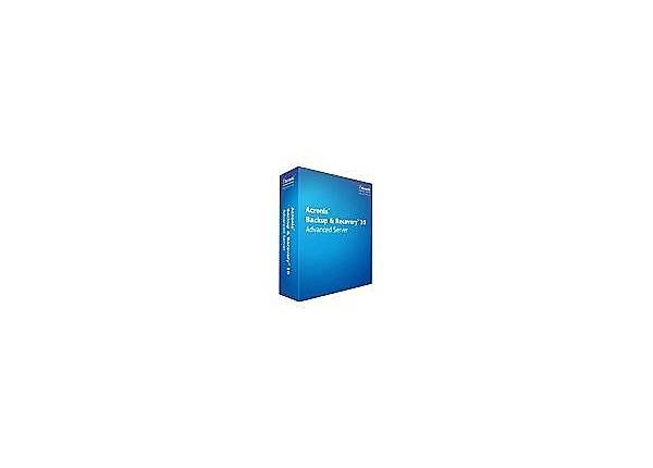 Acronis Backup & Recovery Advanced Server - ( v. 10 ) - license