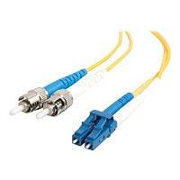 C2G 10m LC-ST 9/125 Duplex Single Mode OS2 Fiber Cable - Yellow - 33ft - pa