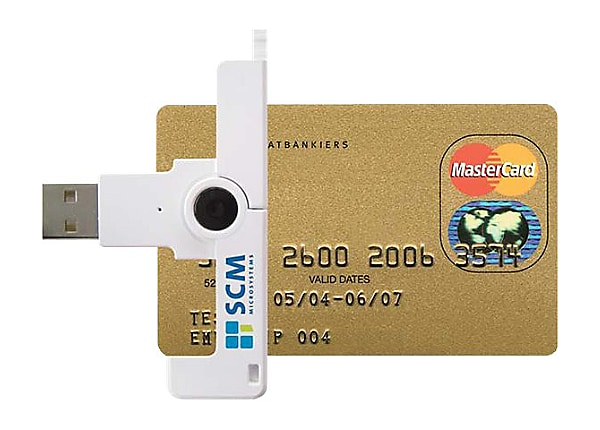 SCM SmartFold SCR3500 Smart Card Reader
