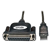 Tripp Lite 6ft Hi-Speed USB to IEEE 1284 Parallel Printer Adapter Cable 6'