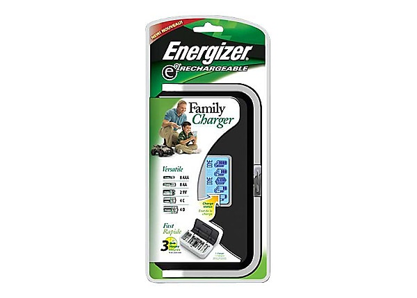Energizer Family Charger CHFC - battery charger - chargers one 9v