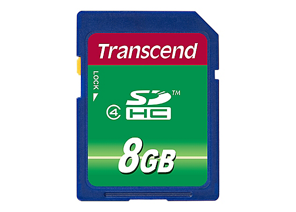 Transcend - flash memory card - 8 GB - SDHC
