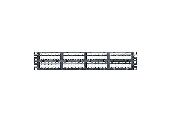 "Panduit MINI-COM Modular Faceplate Patch Panels - patch panel - 2U - 19""/23"