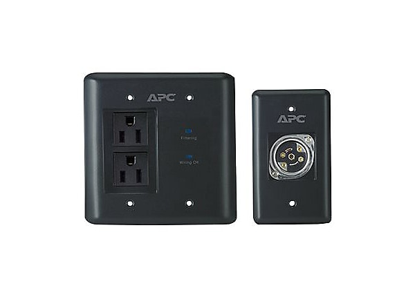 APC AV Black In-Wall Power Filter and Connection Kit - surge protector