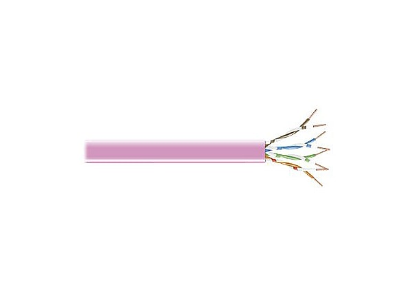 Black Box Bulk 1000ft Reel Cat5e 350Mhz UnShielded Stranded Pink PVC CMR