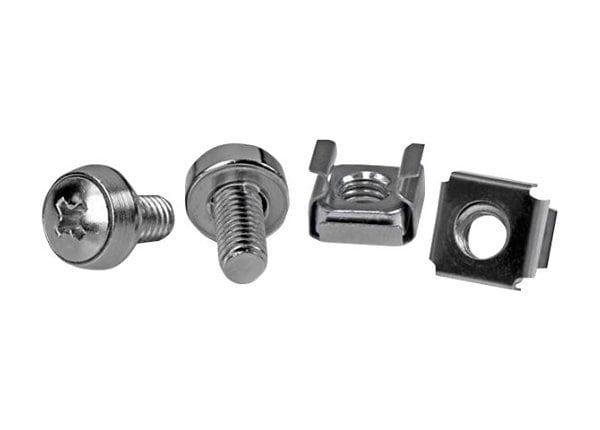 StarTech.com 50 Pkg M6 Mounting Screws & Cage Nuts for Server Rack Cabinet