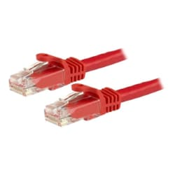 StarTech.com 3 ft Red Cat6 / Cat 6 Snagless Patch Cable 3ft - patch cable -