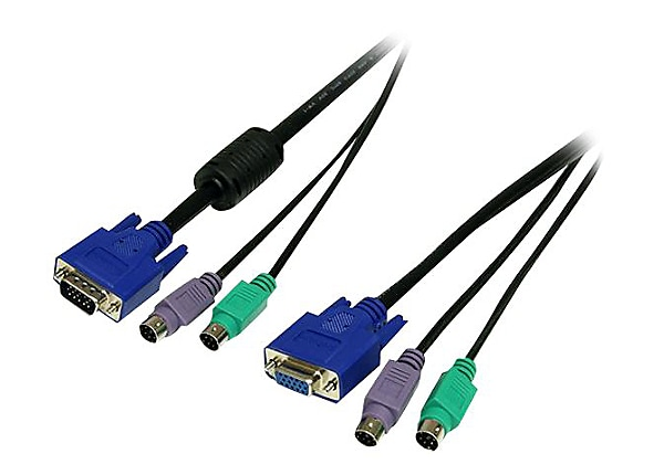 StarTech.com 6 ft. PS/2-Style 3-in-1 KVM Switch Cable