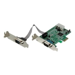 StarTech.com 2 Port Low Profile Native RS232 PCI Express Serial Card