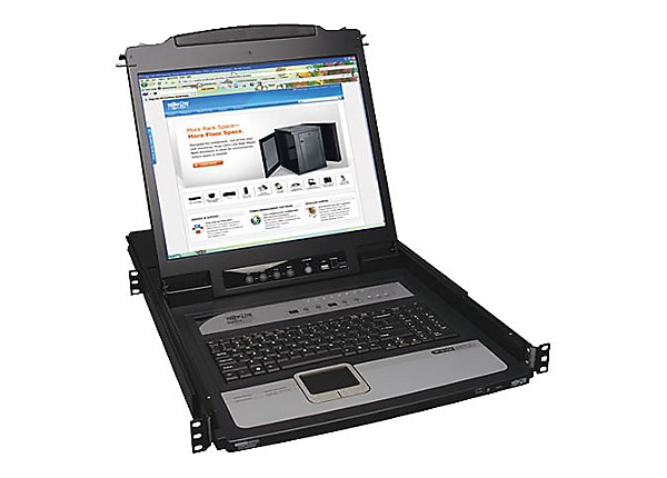 "Tripp Lite Rack Console KVM Switch 8-Port w/ 19"" LCD Built-in IP"