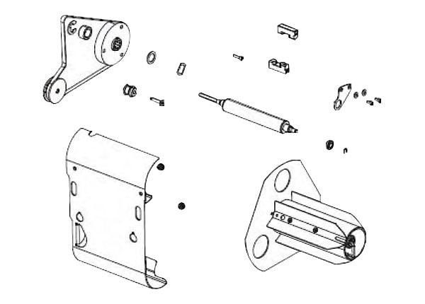 Zebra - media rewind option kit