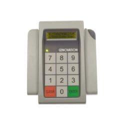 Genovation MiniTerm 905 - keypad - with display, barcode scanner - light gr