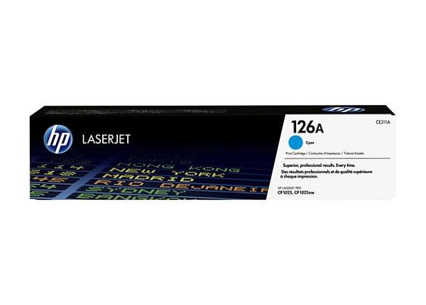 HP 126A - cyan - original - LaserJet - toner cartridge (CE311A)