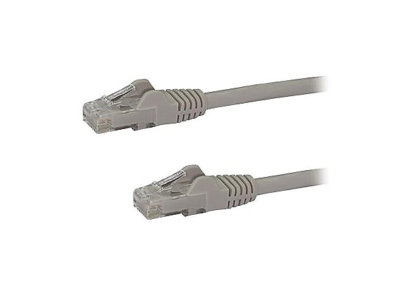 StarTech.com CAT6 Ethernet Cable 100' Gray 650MHz PoE Snagless Patch Cord
