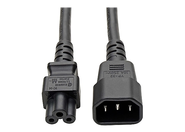 Tripp Lite Laptop/Notebook Power Adapter Cord 2.5A 18AWG C14 to C5 6' 6ft