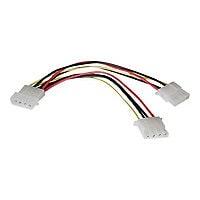 Tripp Lite 6in Internal Power Y Splitter Dual Drive 4Pin M 2x4Pin SOK 6' -