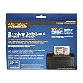 Aleratec Paper Shredder Lubricant Sheet 12-Pack