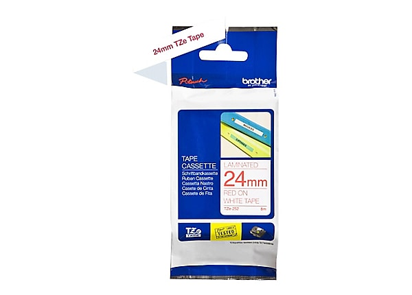 Brother TZe252 - laminated tape - 1 roll(s) - Roll (0.94 in x 26.2 ft)