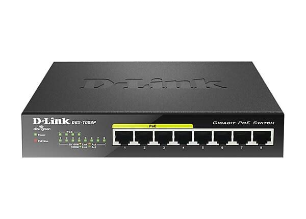 D-Link DGS 1008P 8-Port Gigabit Ethernet Switch