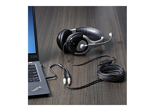 StarTech.com Headset adapter - headsets with separate headphone /mic plugs